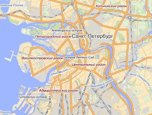 Скачать мобильные карты Санкт-Петербурга бесплатно